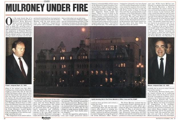 Article Preview: MULRONEY UNDER FIRE, October 1985 | Maclean's
