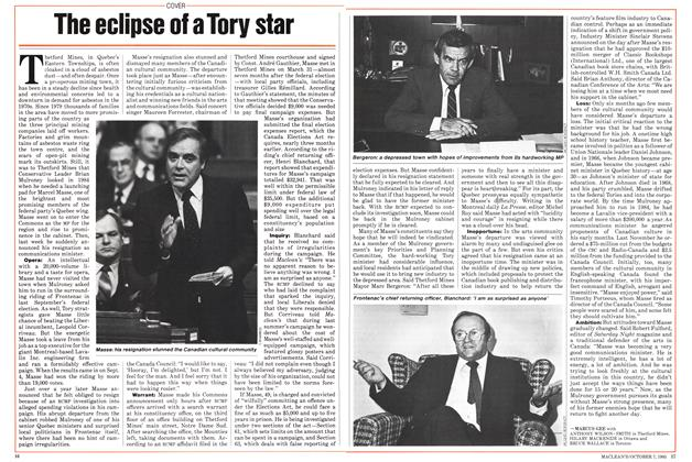 Article Preview: The eclipse of a Tory star, October 1985 | Maclean's