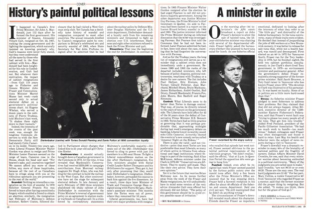 Article Preview: A minister in exile, October 1985 | Maclean's