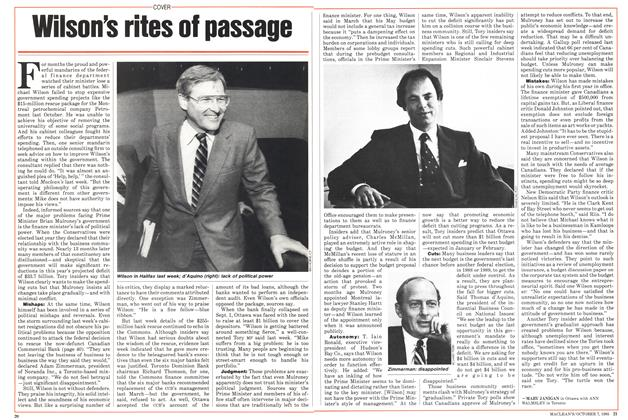 Article Preview: Wilson's rites of passage, October 1985 | Maclean's