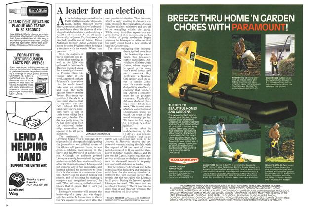 Article Preview: A leader for an election, October 1985 | Maclean's