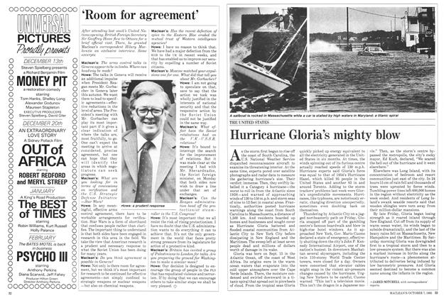 Article Preview: Hurricane Gloria's mighty blow, October 1985   Maclean's