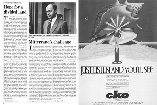 Article Preview: Mitterrand's challenge, October 1985 | Maclean's