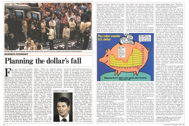 Article Preview: Planning the dollar's fall, October 1985 | Maclean's