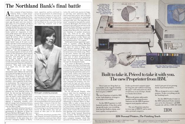 Article Preview: The Northland Bank's final battle, October 1985 | Maclean's