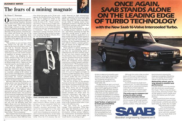 Article Preview: The fears of a mining magnate, October 1985 | Maclean's