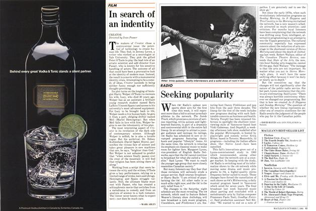 Article Preview: Seeking popularity, October 1985 | Maclean's