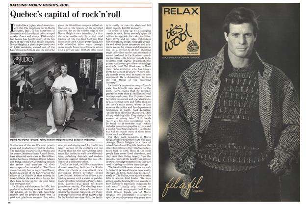 Article Preview: Quebec's capital of rock'n'roll, October 1985 | Maclean's