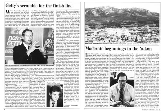 Article Preview: Getty's scramble for the finish line, October 1985 | Maclean's