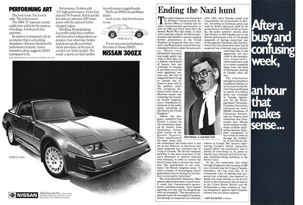 Article Preview: Ending the Nazi hunt, October 1985 | Maclean's