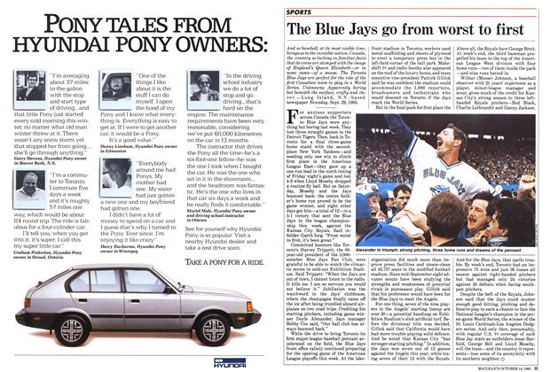 Article Preview: The Blue Jays go from worst to first, October 1985   Maclean's