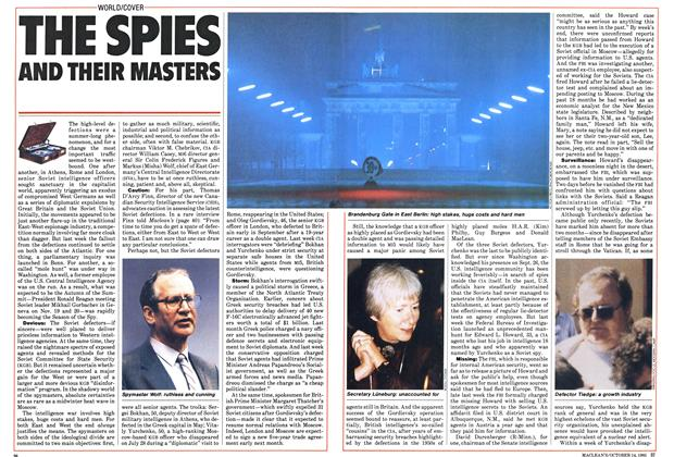 Article Preview: THE SPIES AND THEIR MASTERS, October 1985 | Maclean's
