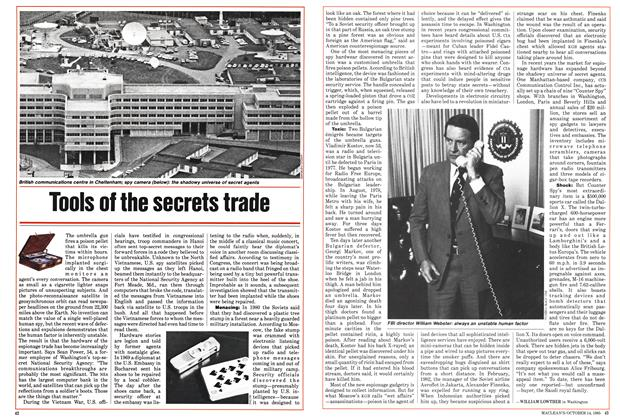 Article Preview: Tools of the secrets trade, October 1985 | Maclean's