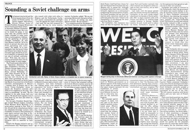 Article Preview: Sounding a Soviet challenge on arms, October 1985 | Maclean's