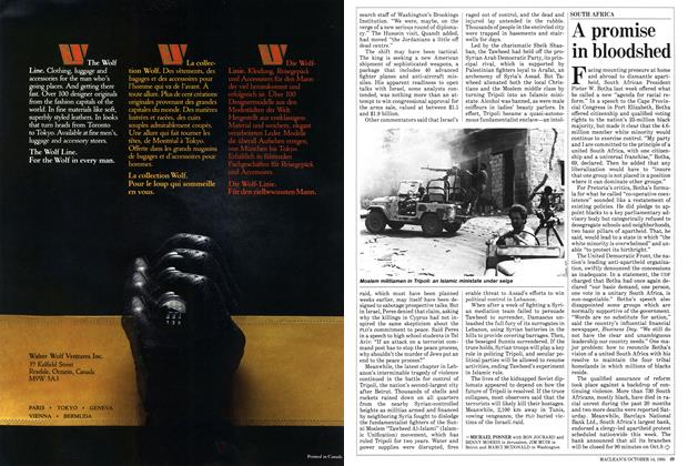 Article Preview: A promise in bloodshed, October 1985 | Maclean's