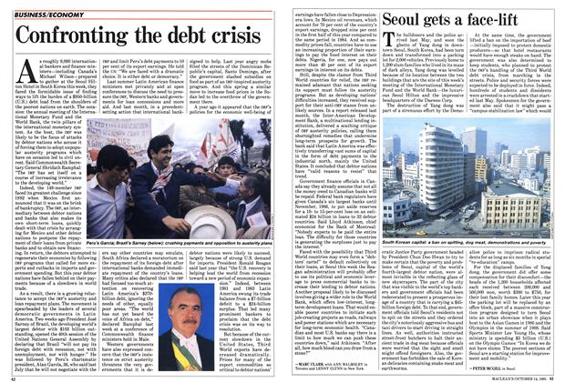 Article Preview: Confronting the debt crisis, October 1985 | Maclean's