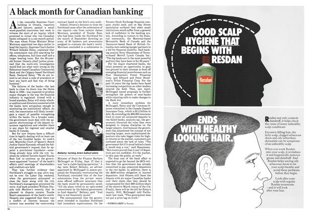 Article Preview: A black month for Canadian banking, October 1985 | Maclean's