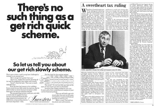 Article Preview: A sweetheart tax ruling, October 1985 | Maclean's