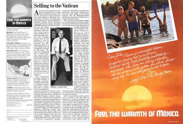 Article Preview: Selling to the Vatican, October 1985 | Maclean's