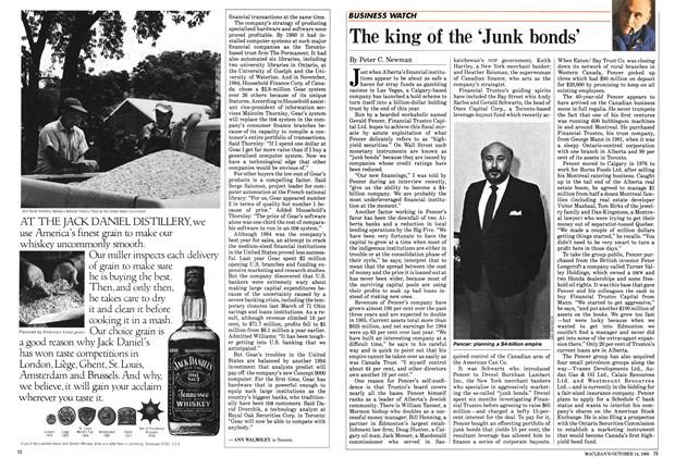 Article Preview: The king of the 'Junk bonds', October 1985 | Maclean's