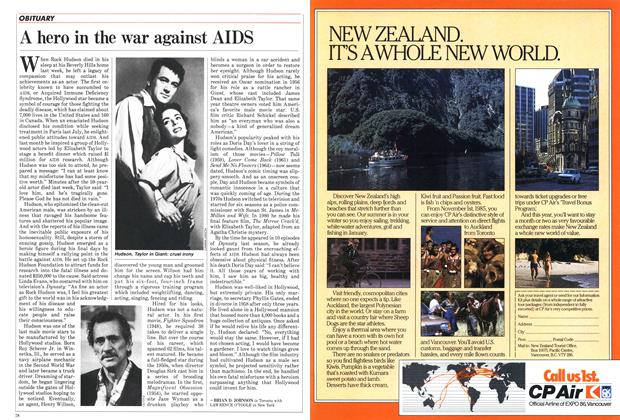 Article Preview: A hero in the war against AIDS, October 1985 | Maclean's
