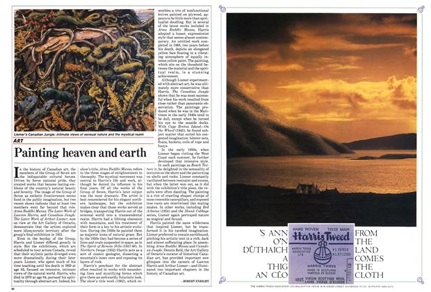Article Preview: Painting heaven and earth, October 1985   Maclean's