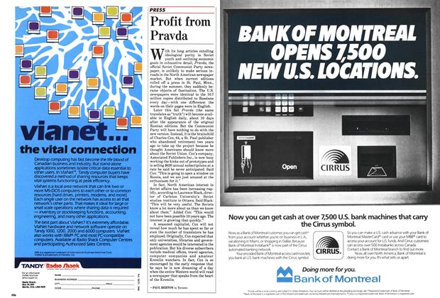 Article Preview: Profit from Pravda, October 1985 | Maclean's