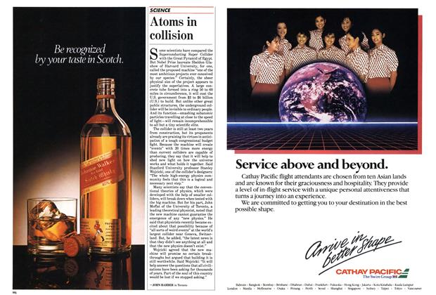 Article Preview: Atoms in collision, October 1985 | Maclean's