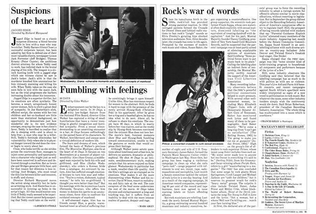 Article Preview: Rock's war of words, October 1985   Maclean's