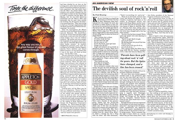 Article Preview: The devilish soul of rock'n'roll, October 1985 | Maclean's