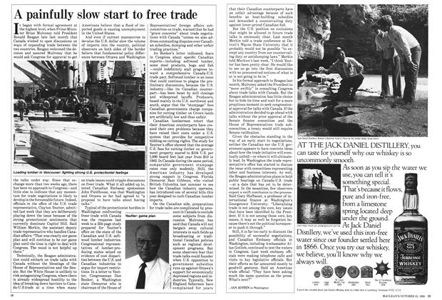 Article Preview: A painfully slow start to free trade, October 1985 | Maclean's