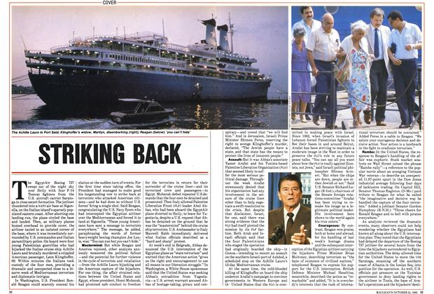 Article Preview: STRIKING BACK, October 1985 | Maclean's