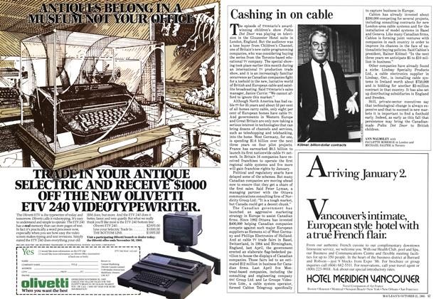 Article Preview: Cashing in on cable, October 1985 | Maclean's