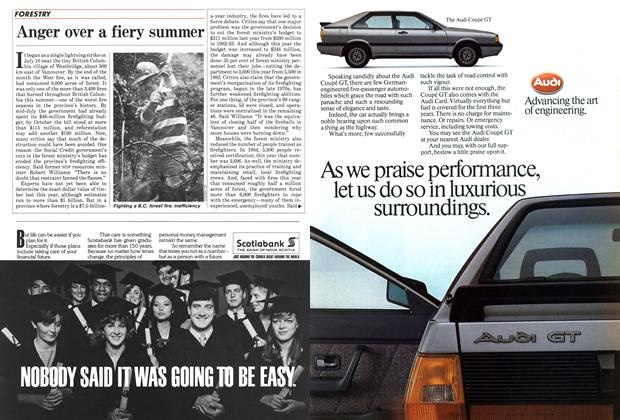 Article Preview: Anger over a fiery summer, October 1985 | Maclean's