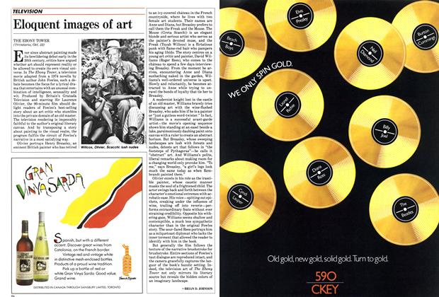 Article Preview: Eloquent images of art, October 1985 | Maclean's