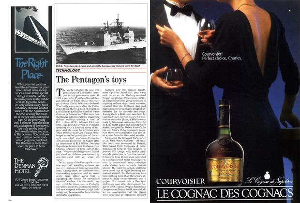 Article Preview: The Pentagon's toys, October 1985 | Maclean's