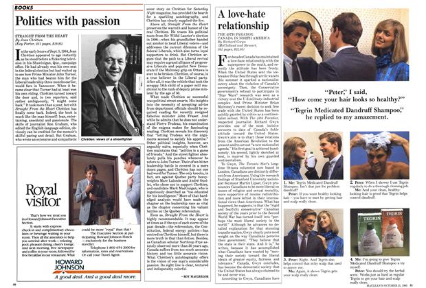 Article Preview: Politics with passion, October 1985 | Maclean's