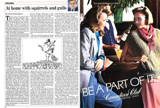 Article Preview: At home with squirrels and gulls, October 1985 | Maclean's