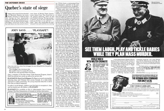 Article Preview: Quebec's state of siege, October 1985 | Maclean's