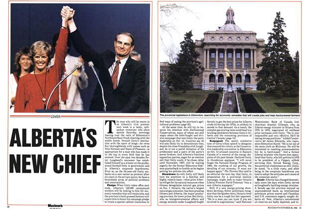Article Preview: ALBERTA'S NEW CHIEF, October 1985 | Maclean's