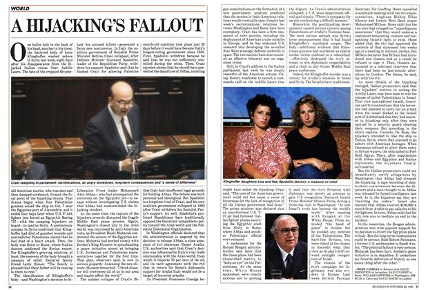 Article Preview: A HIJACKING'S FALLOUT, October 1985 | Maclean's