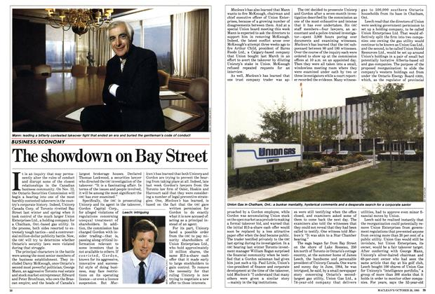 Article Preview: The showdown on Bay Street, October 1985 | Maclean's