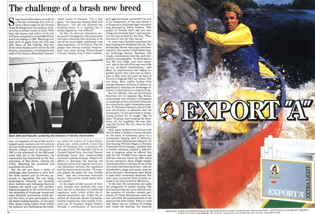Article Preview: The challenge of a brash new breed, October 1985 | Maclean's