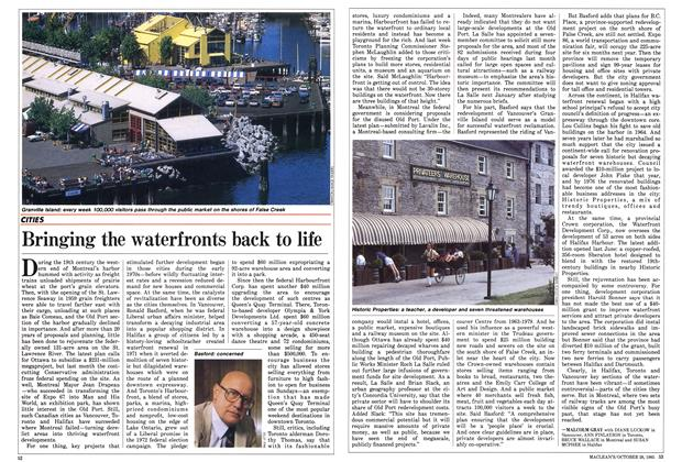 Article Preview: Bringing the waterfronts back to life, October 1985 | Maclean's
