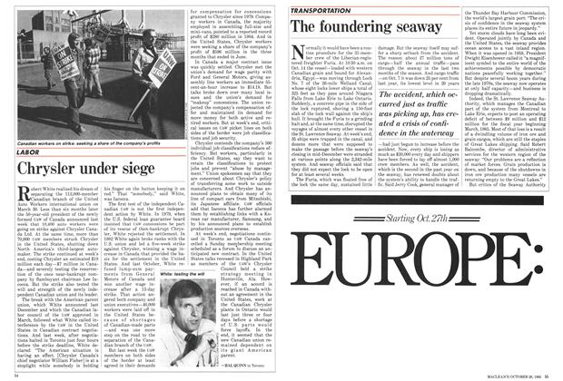 Article Preview: The foundering seaway, October 1985 | Maclean's