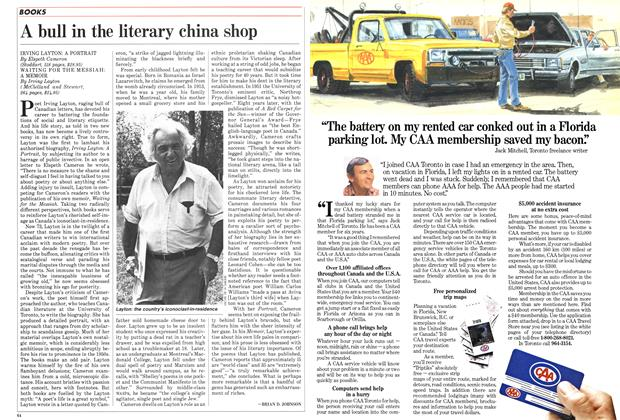 Article Preview: A bull in the literary china shop, October 1985 | Maclean's