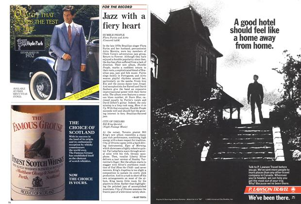 Article Preview: Jazz with a fiery heart, October 1985 | Maclean's