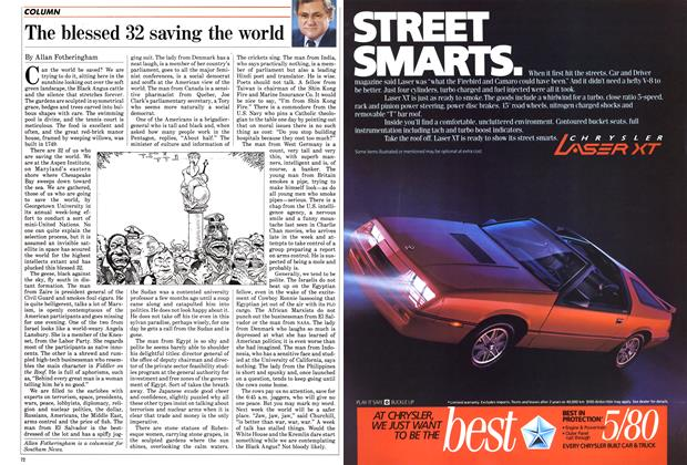 Article Preview: The blessed 32 saving the world, October 1985   Maclean's