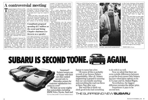 Article Preview: A controversial meeting, November 1985 | Maclean's
