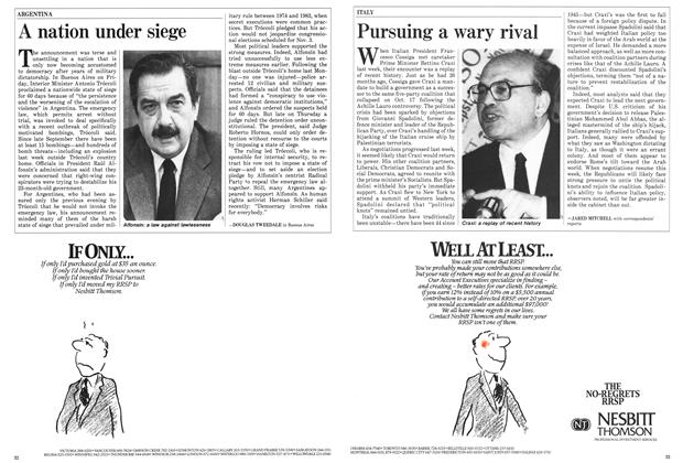 Article Preview: Pursuing a wary rival, November 1985 | Maclean's
